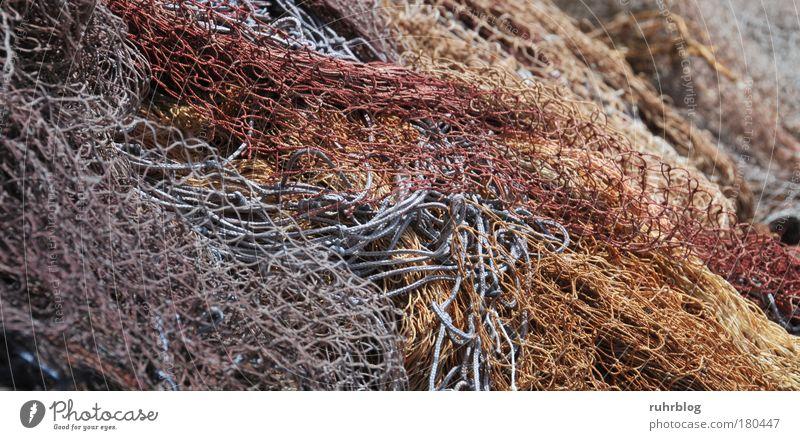 Fischernetze im Hafen von La Ciotat, Frankreich Farbfoto Außenaufnahme Detailaufnahme abstrakt Muster Strukturen & Formen Tag Licht Fischerdorf Netz Netzwerk
