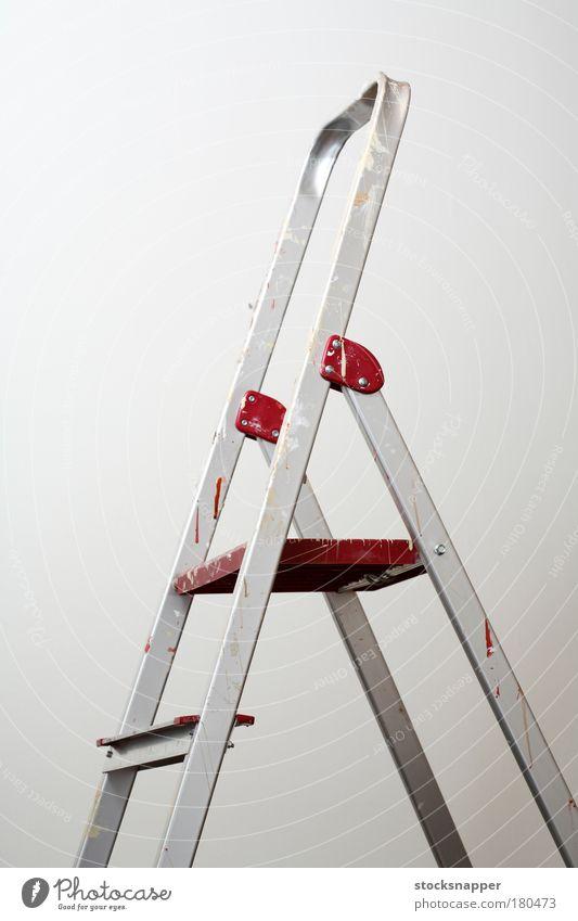 Leitern heimwerken Aluminium Leichtmetall dreckig malen Flecken gefärbt niemand Trittleiter Objektfotografie