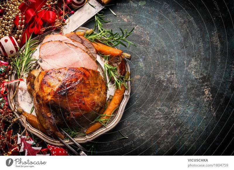 Weihnachtsbraten Weihnachten & Advent Freude Speise Stil Lebensmittel Feste & Feiern Design Häusliches Leben Ernährung Dekoration & Verzierung Tisch Gemüse