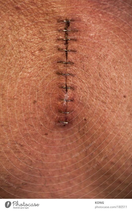 der schnitt Mann alt Erwachsene Tod dunkel Körper Haut Ereignisse kaputt Gesundheitswesen nah Krankheit Brust Schmerz Sorge