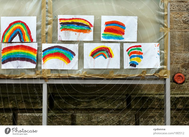 Somewhere over the Rainbow schön Freude Leben Glück Erde Design träumen Kindheit ästhetisch Kommunizieren Kreativität Lebensfreude Idee einzigartig Papier