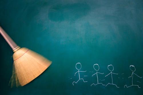 verscheuchen Mensch Kind Einsamkeit Leben Traurigkeit feminin Gesundheit Kunst maskulin Angst Zukunft Zukunftsangst Stress Jagd Tafel Zeichnung