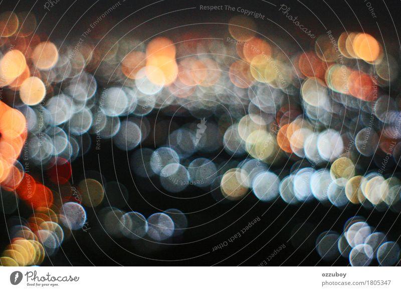 abstrakte defocused Lichtblase Landschaft gold orange rot Blase Konsistenz Nachtbeleuchtung Hintergrundbild simpel hell Unschärfe gepunktet elegant Zukunft