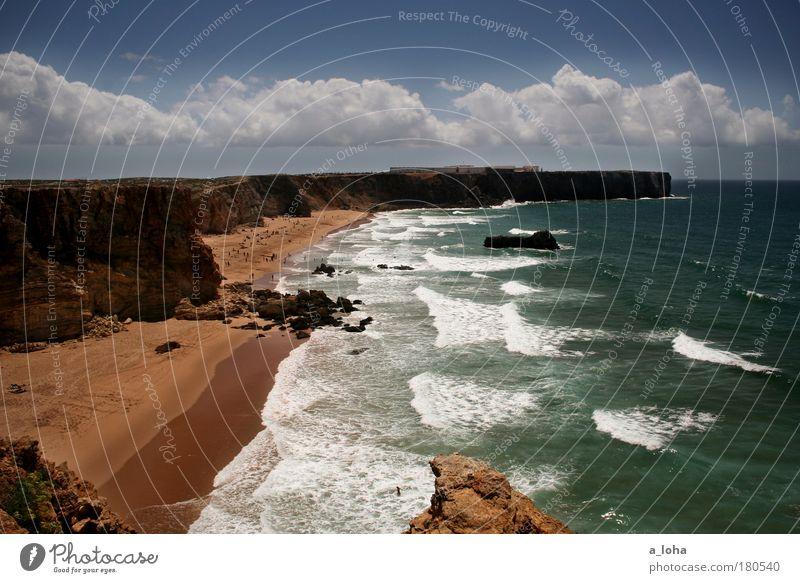 surferträume Farbfoto Außenaufnahme Tag Sonnenlicht Sonnenstrahlen Starke Tiefenschärfe Panorama (Aussicht) Landschaft Sand Wasser Himmel Küste Strand Bucht