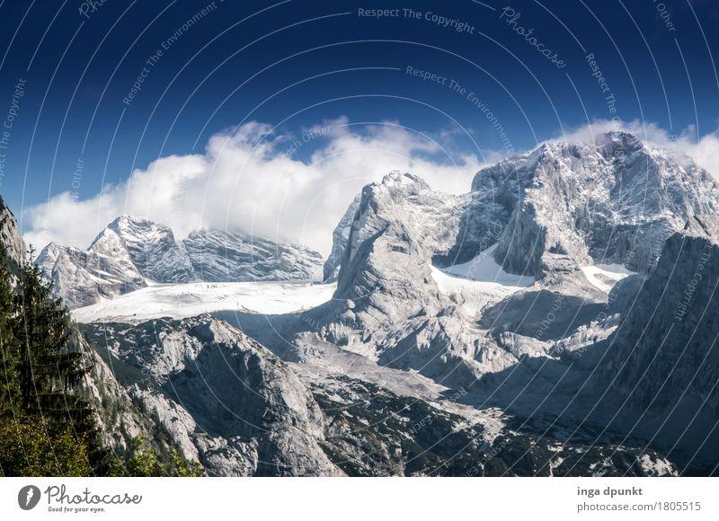 Gosaugletscher Umwelt Natur Landschaft Himmel Winter Klima Wetter Schönes Wetter Eis Frost Schnee Alpen Berge u. Gebirge Gipfel Schneebedeckte Gipfel Gletscher