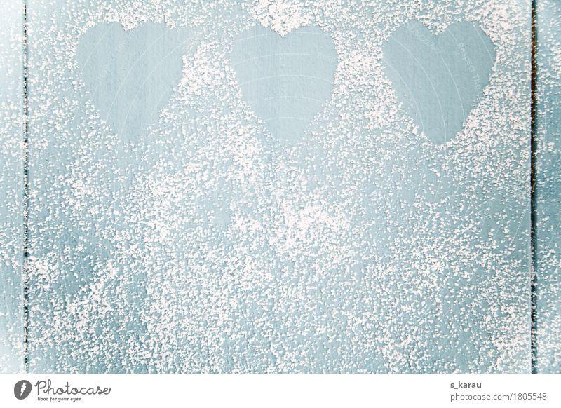 Herz Hintergrund blau weiß Winter Gefühle Liebe Hintergrundbild Holz Zusammensein Textfreiraum süß einfach Romantik Information Symbole & Metaphern