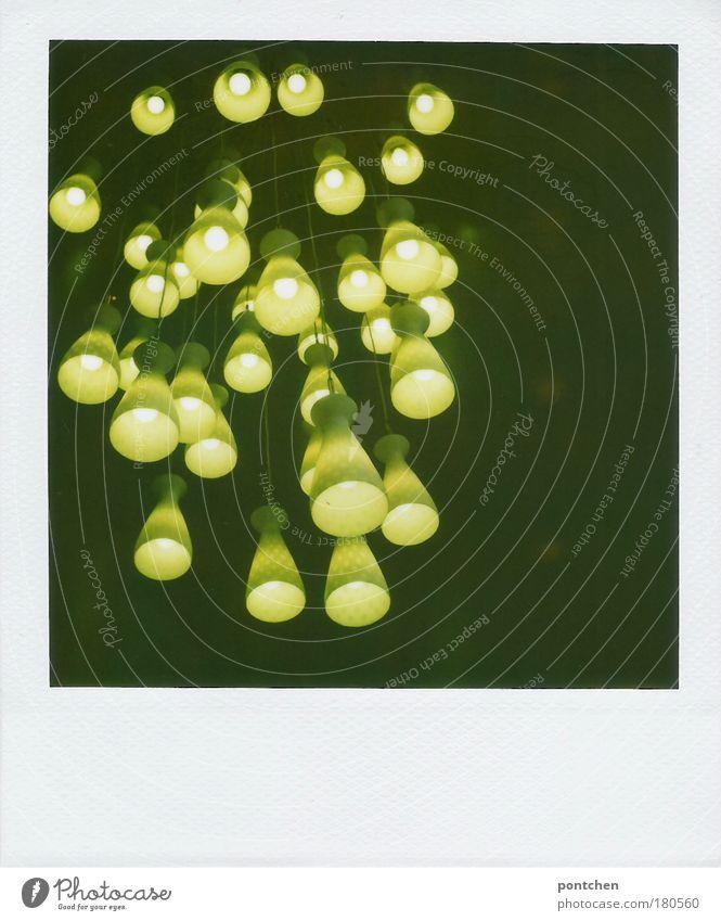 Lichtermeer hell Design Energiewirtschaft Elektrizität ästhetisch mehrere Dekoration & Verzierung Licht Farbfoto viele Glühbirne Polaroid elektrisch verschwenden Beleuchtungselement