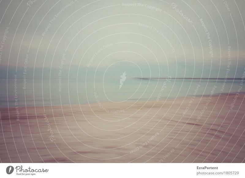klare Sicht Himmel Natur Ferien & Urlaub & Reisen blau Sommer Wasser Meer Landschaft Erholung Wolken ruhig Ferne Strand gelb Herbst Freiheit