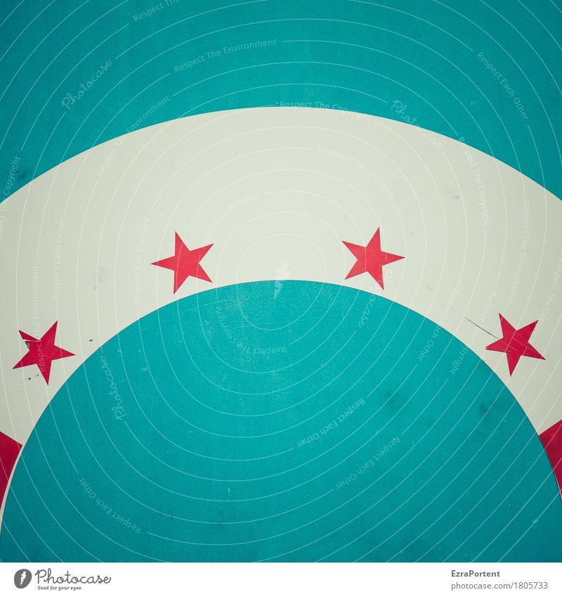 4 Sterne Metall Zeichen Schilder & Markierungen Hinweisschild Warnschild ästhetisch blau rot türkis weiß Design Farbe Werbung Bogen Stern (Symbol)
