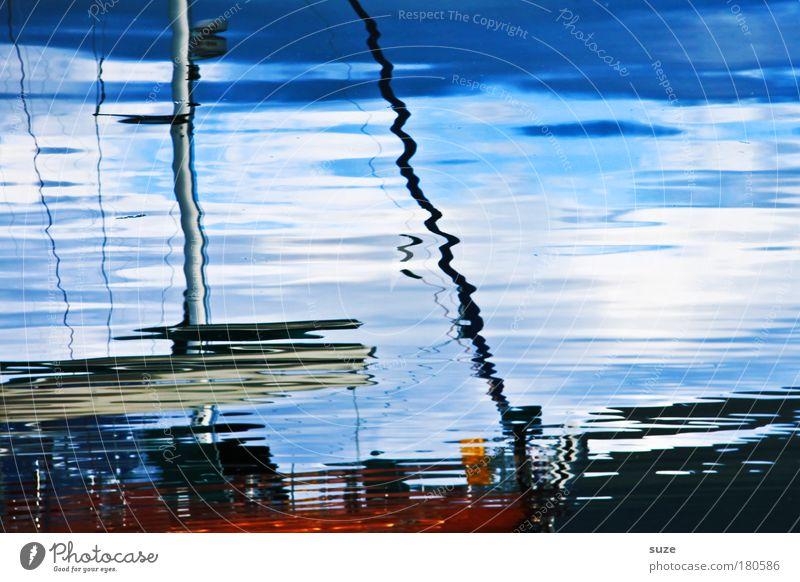 Wellness Himmel blau Wasser Ferien & Urlaub & Reisen kalt Freiheit Linie Kunst Wasserfahrzeug Wellen Hintergrundbild Ausflug liegen Tourismus Ziel