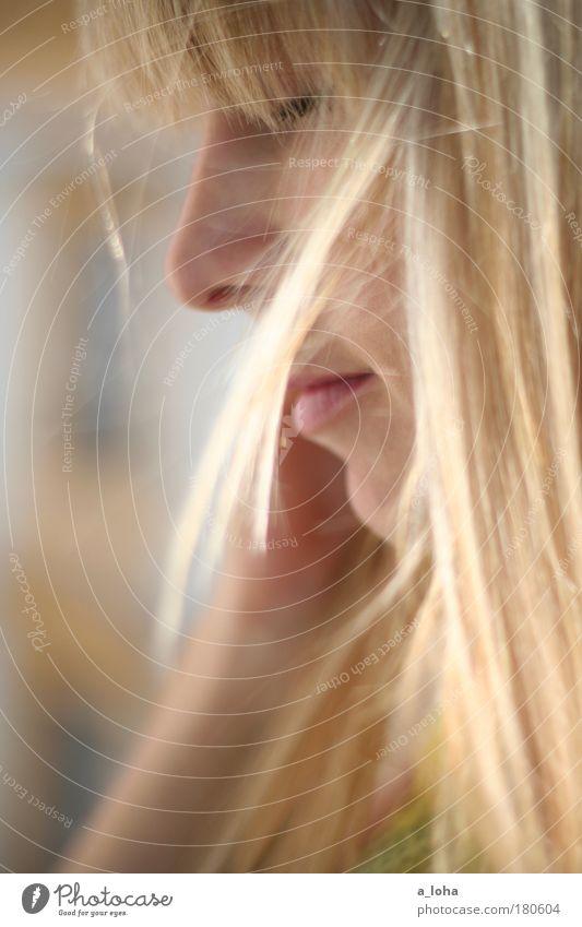 guten morgen sonnenschein Jugendliche schön Gesicht Erwachsene Erholung feminin Gefühle Haare & Frisuren Glück Wärme träumen Zufriedenheit blond natürlich