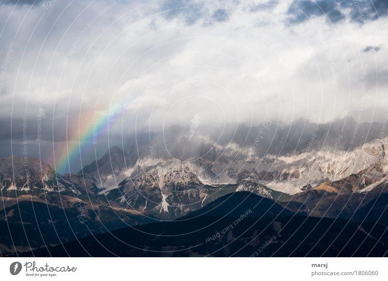 Wechselhaftes Wanderwetter Ferien & Urlaub & Reisen Tourismus Ausflug Ferne Freiheit Berge u. Gebirge Natur Landschaft Wolken Sommer Herbst Wetter