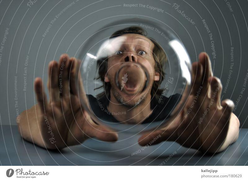 sprechblase Mensch Mann Gesicht Auge sprechen Haare & Frisuren Kopf Mund Sportler Haut Erwachsene Arme Wissenschaftler Glas maskulin Nase