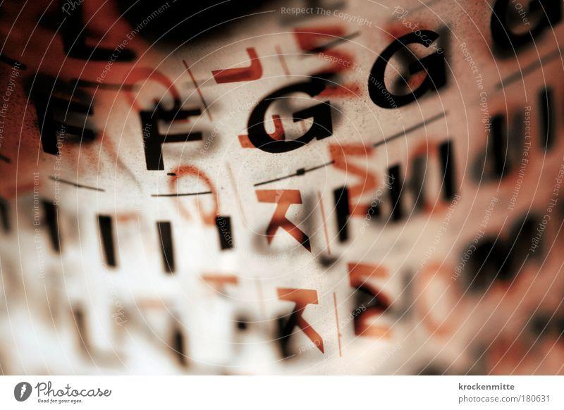 typo pichnette IV rot schwarz Design abstrakt Schriftzeichen Buchstaben schreiben i Grafik u. Illustration tief Kreativität Typographie durchsichtig gestalten Lateinisches Alphabet Rotstich