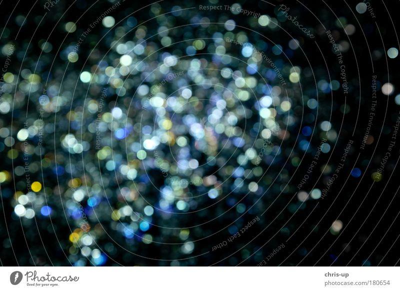 Unscharfe Kreise weiß schwarz dunkel Hintergrundbild glänzend Tanzen leuchten Silvester u. Neujahr Veranstaltung Nacht Entertainment kreisrund