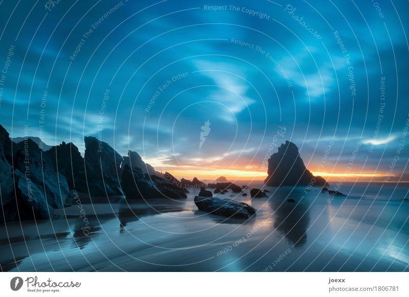 Praia da Adraga Ferien & Urlaub & Reisen Sommer Strand Meer Natur Wasser Himmel Horizont Sonnenaufgang Sonnenuntergang Schönes Wetter Felsen Küste maritim schön