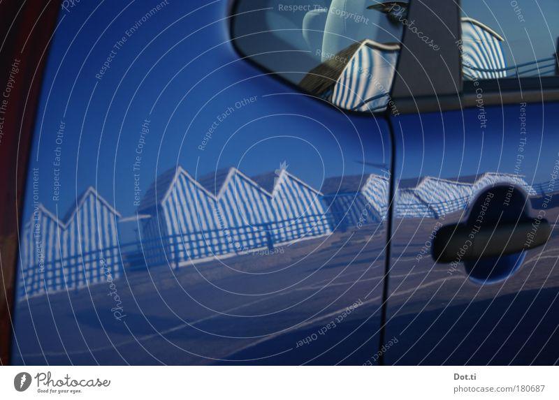 en bordure de mer Ferien & Urlaub & Reisen blau Strand Freizeit & Hobby PKW elegant Dach Hütte Sommerurlaub Fahrzeug Frankreich Wahrzeichen KFZ Parkplatz
