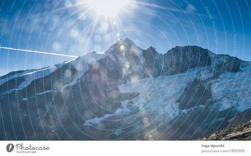 Grossglockner Umwelt Natur Landschaft Urelemente Herbst Klima Wetter Schönes Wetter Schnee Felsen Alpen Berge u. Gebirge Schneebedeckte Gipfel Österreich