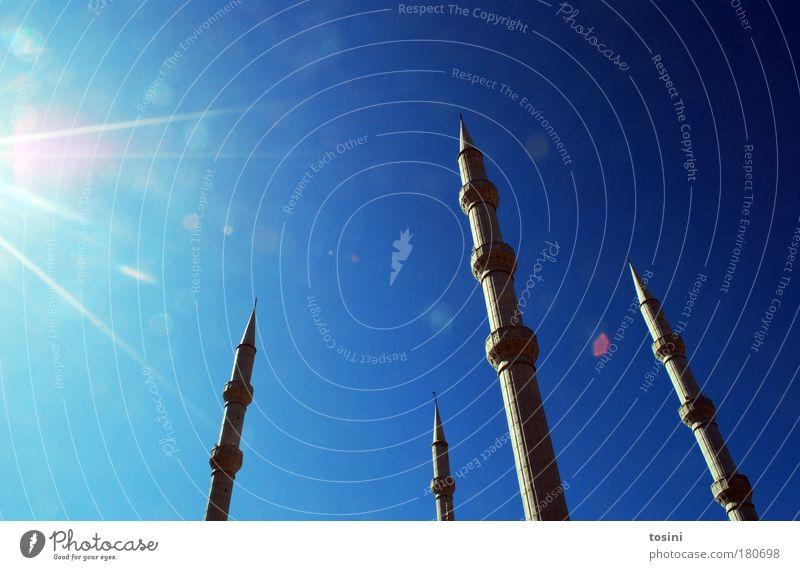fremde Kulturen... Himmel Sonne blau Sommer Ferien & Urlaub & Reisen Fenster Gebäude Himmel (Jenseits) Religion & Glaube Architektur Tourismus rund Turm Spitze heiß