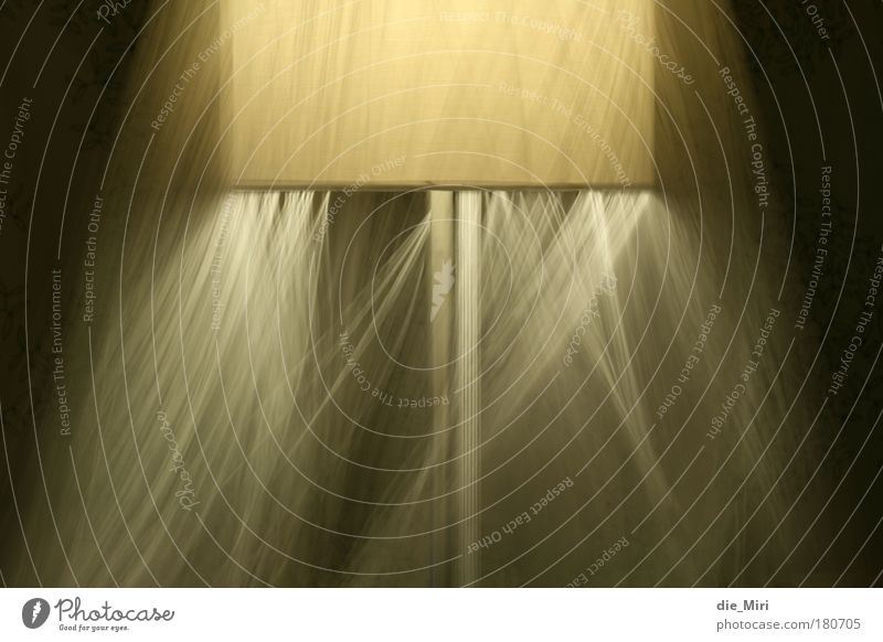 spooky lamp_1 gelb Lampe Bewegung Wärme braun ästhetisch leuchten Lichtspiel Lampenschirm