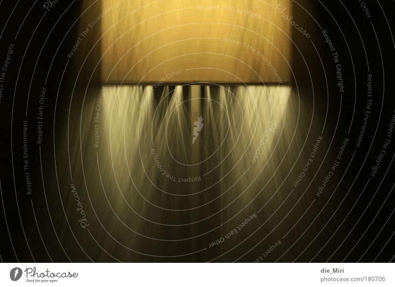 spooky lamp_2 gelb Lampe Bewegung braun leuchten Lampenschirm Stehlampe Leuchtkraft