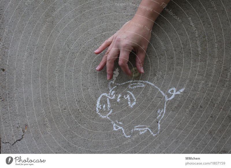 Sparfuchs kaufen Reichtum Glücksspiel Hochzeit Geburtstag Wirtschaft Ruhestand Hand Maler Gemälde Mauer Wand Schwein Spielzeug Tresor Spardose Knöpfe Beton