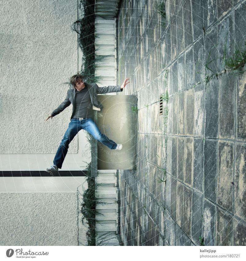 alles dreht sich Mensch Mann Hand Haus Erwachsene Leben Spielen Gebäude Beine Wohnung fliegen Fassade maskulin Hochhaus Häusliches Leben Lifestyle