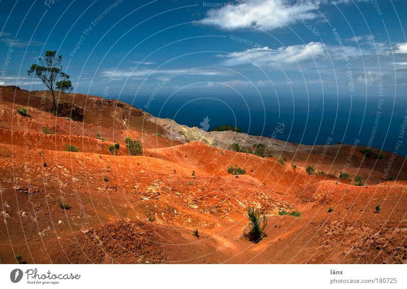 Erosion Natur Wasser Himmel Meer Pflanze Wolken Sand Landschaft Spanien Horizont Erde fantastisch Urelemente Schönes Wetter bizarr chaotisch