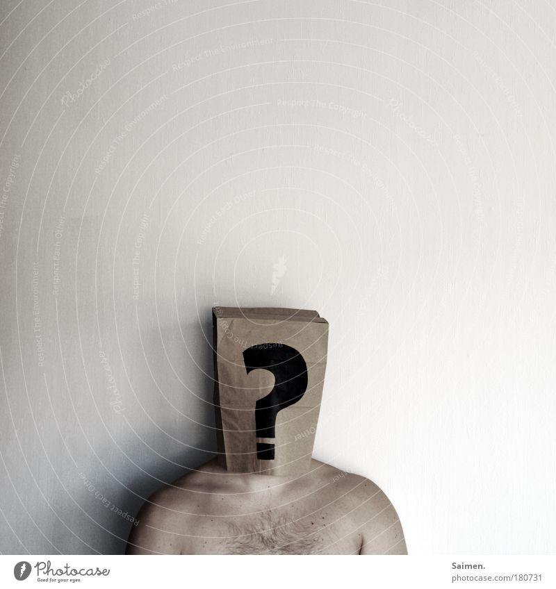 Identitätskrise Mann alt Erwachsene kalt Traurigkeit Denken träumen Körper natürlich maskulin stehen kaputt Hoffnung einzigartig Sehnsucht Krankheit