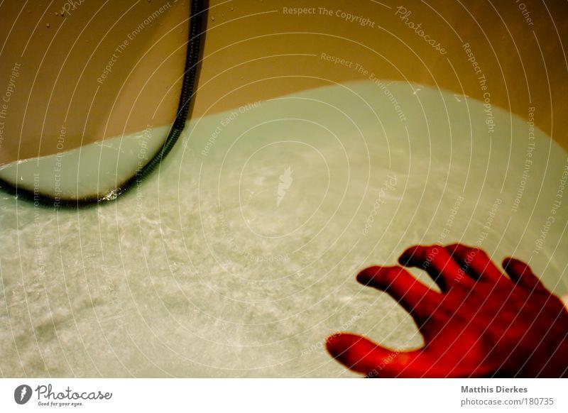 Psycho [Low-Budget-Version] verrückt Filmindustrie gruselig Hand Badewanne Dusche (Installation) Wasser bedrohlich gefährlich Angst Panik Todesangst rot