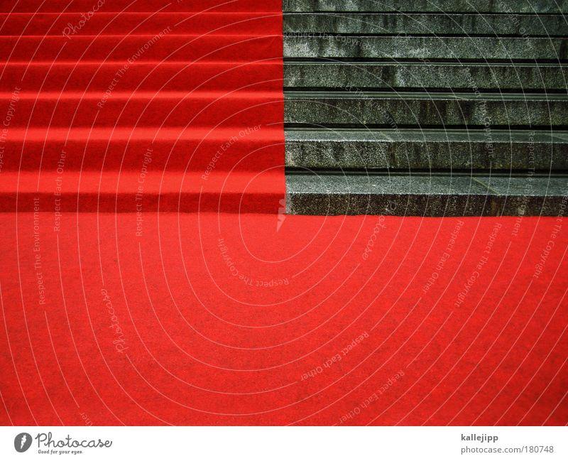 beginn: 12:15 uhr, kleidung: festlich rot elegant Treppe Eingang Bodenbelag Teppich Ehre Empfang Preisverleihung Premiere Roter Teppich Staatsempfang