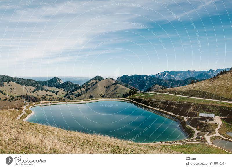 Schönes Wasserloch Himmel Natur Sommer Landschaft Erholung Einsamkeit ruhig Berge u. Gebirge Umwelt natürlich See Tourismus wandern Idylle Schönes Wetter