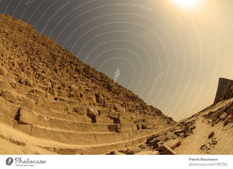 Weltkulturerbe Gedeckte Farben Außenaufnahme Menschenleer Textfreiraum oben Reflexion & Spiegelung Sonnenlicht Sonnenstrahlen Fischauge Erde Sand