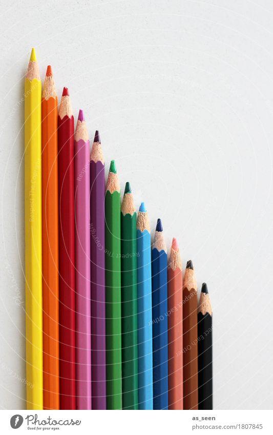Richtung Regenbogen Farbe Freude Leben Schule Design Freizeit & Hobby liegen Dekoration & Verzierung Ordnung Kreativität Fröhlichkeit Spitze Papier Bildung