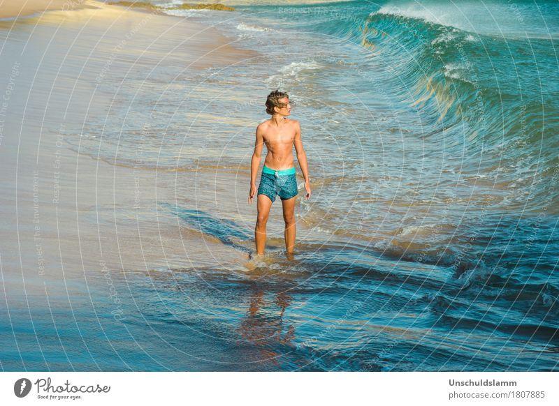 Cool Water Lifestyle Leben Schwimmen & Baden Ferien & Urlaub & Reisen Sommer Strand Meer Wellen Mensch Jugendliche Körper 13-18 Jahre Natur Schönes Wetter Wind