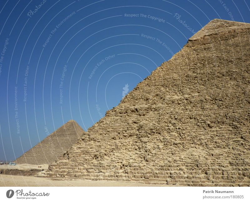Die zwei großen Pyramiden Sonne Sommer Ferien & Urlaub & Reisen Ferne Landschaft Sand Wärme Erde Ausflug Tourismus Wüste Ziel entdecken Wahrzeichen anstrengen
