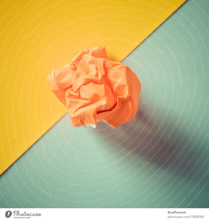 G/zoP/B elegant Stil Design Dekoration & Verzierung Papier Zeichen Linie hell blau gelb orange türkis Farbe Werbung Sensation Falte Hintergrundbild graphisch