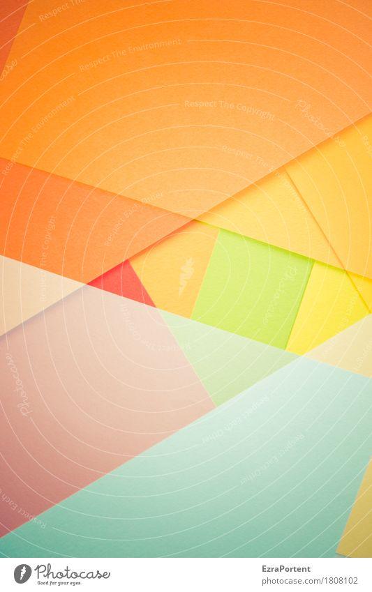´ elegant Stil Design Dekoration & Verzierung Kunst Papier Zeichen Linie blau mehrfarbig gelb grün orange rot Farbe Werbung Hintergrundbild Geometrie