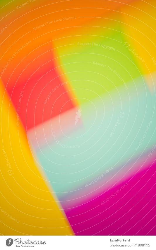 verschwommen glbrogg Stil Design Dekoration & Verzierung Kunst Papier Linie blau mehrfarbig gelb grün violett orange rot Farbe Werbung Unschärfe Fröhlichkeit