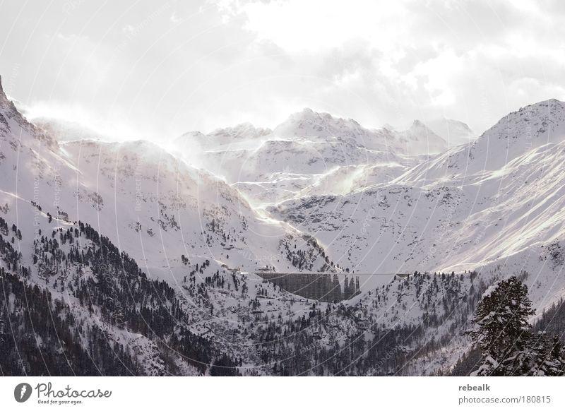 wintertime Natur schön weiß Erholung Einsamkeit Landschaft Ferne Winter kalt Berge u. Gebirge Schnee träumen Tourismus Eis Wind Vergänglichkeit