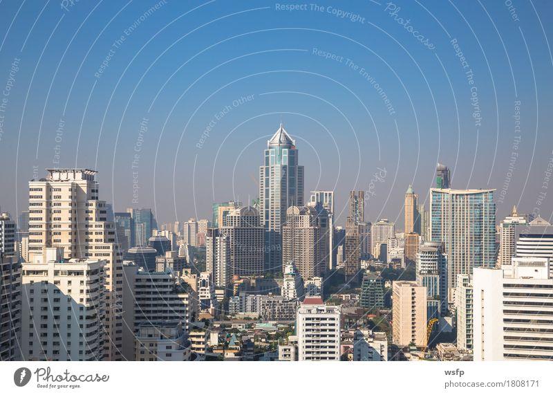 Bangkok skyline am tag panorama Büro Stadt Stadtzentrum Skyline Hochhaus Architektur authentisch Stadtteil sukhumvit himmel bank Asien Thailand stadt der engel