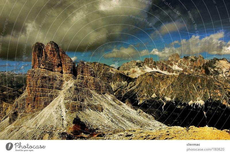 dolomiten gipfelblick Himmel Natur Sonne Sommer Ferien & Urlaub & Reisen Wolken Ferne Freiheit Berge u. Gebirge Landschaft Umwelt Ausflug Felsen Tourismus Alpen