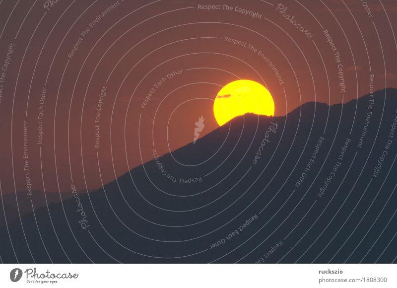 Sunset, Evening lake, leisure, Freizeit & Hobby Ferien & Urlaub & Reisen Sonne Berge u. Gebirge Landschaft Wasser Wolken Alpen See Stimmung Sonnenuntergang