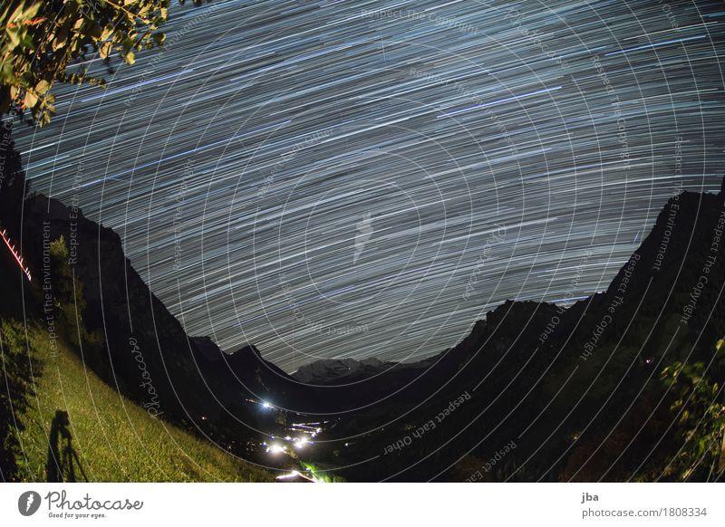 Kiental by Night Zufriedenheit Erholung ruhig Ausflug Ferne Sommer Berge u. Gebirge Natur Landschaft Urelemente Nachthimmel Stern Herbst Schönes Wetter Alpen