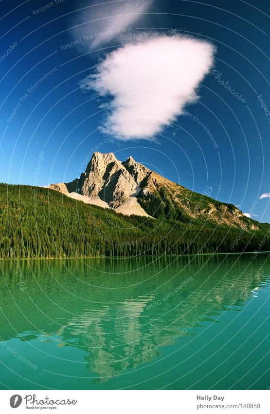 Wolkenspiegel Himmel Natur Wasser Ferien & Urlaub & Reisen Sommer Wolken Wald Ferne Landschaft Berge u. Gebirge See Wellen Ausflug Tourismus Schönes Wetter Gipfel