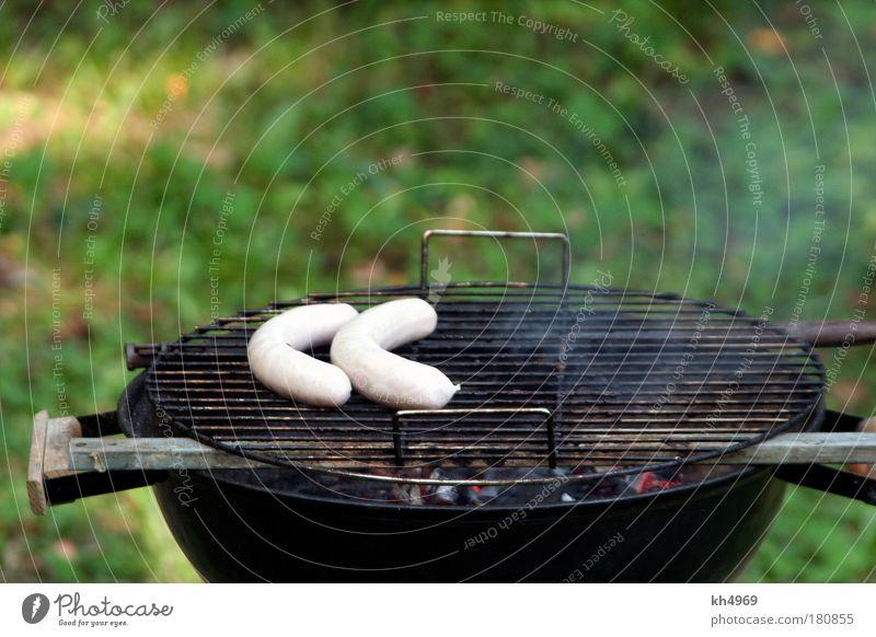 Mahlzeit Farbfoto Außenaufnahme Menschenleer Tag Zentralperspektive Lebensmittel Fleisch Wurstwaren Ernährung Freude Ausflug Camping Sommer Sommerurlaub