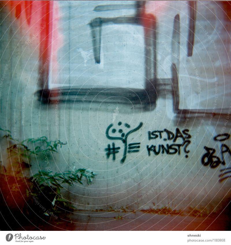 Gleichung rot Wand Mauer Graffiti Schriftzeichen Zeichen Tunnel Bauwerk Kunst Straßenkunst