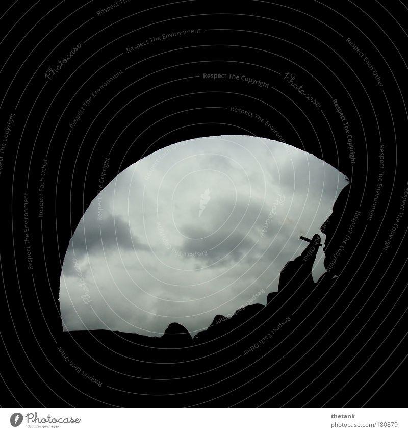mondmann Mensch Mann ruhig Einsamkeit Erwachsene Erholung Freiheit Traurigkeit Denken Zufriedenheit maskulin Rauchen 18-30 Jahre Gelassenheit Silhouette genießen