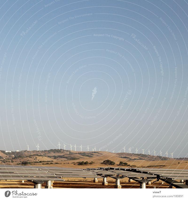 Neue Energie Himmel Sonne Ferne Zufriedenheit hell braun Umwelt Erfolg Horizont Perspektive Industrie modern Energiewirtschaft authentisch gut
