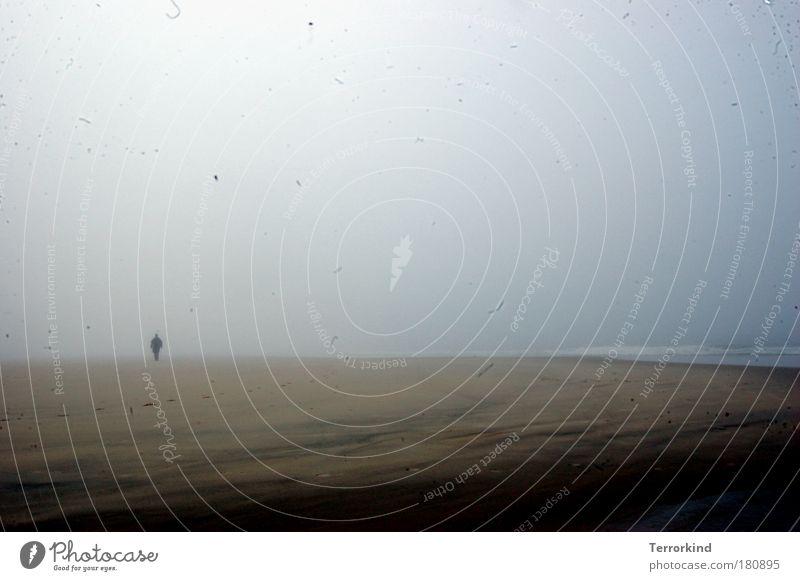 blind.läufer. Mensch Meer Nebel Wind Erinnerung Vorsicht unsicher Tastsinn